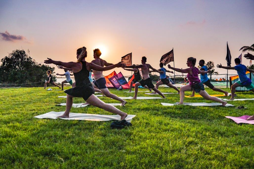 kite yoga camp sicily